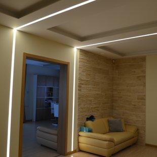 iebūvēti LED profili